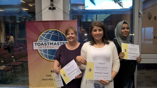 ACK Toastmasters' Members participate in the Divisional Contest
