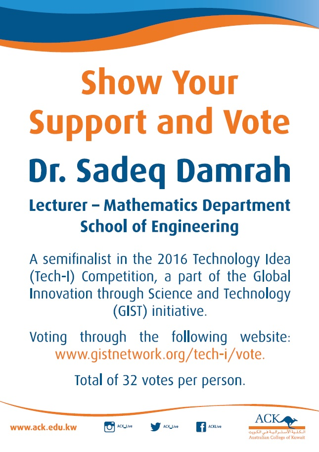Show your Support and Vote