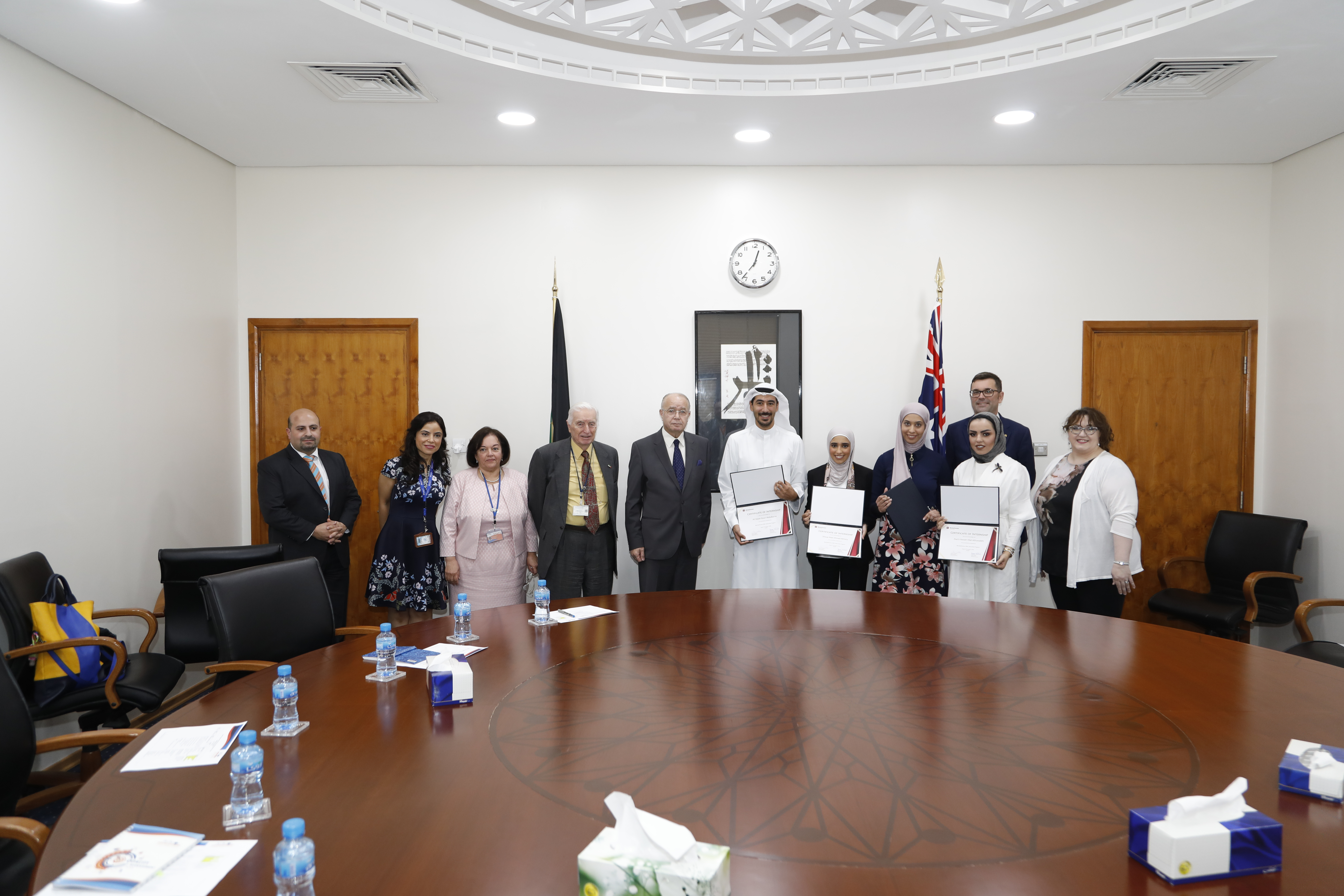 Australian Ambassador recognizes ACK students for completion of WorleyParsons and KOC Internship