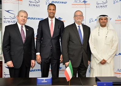 ACK Signs Agreement with Boeing to address Kuwait's Aviation Training Needs