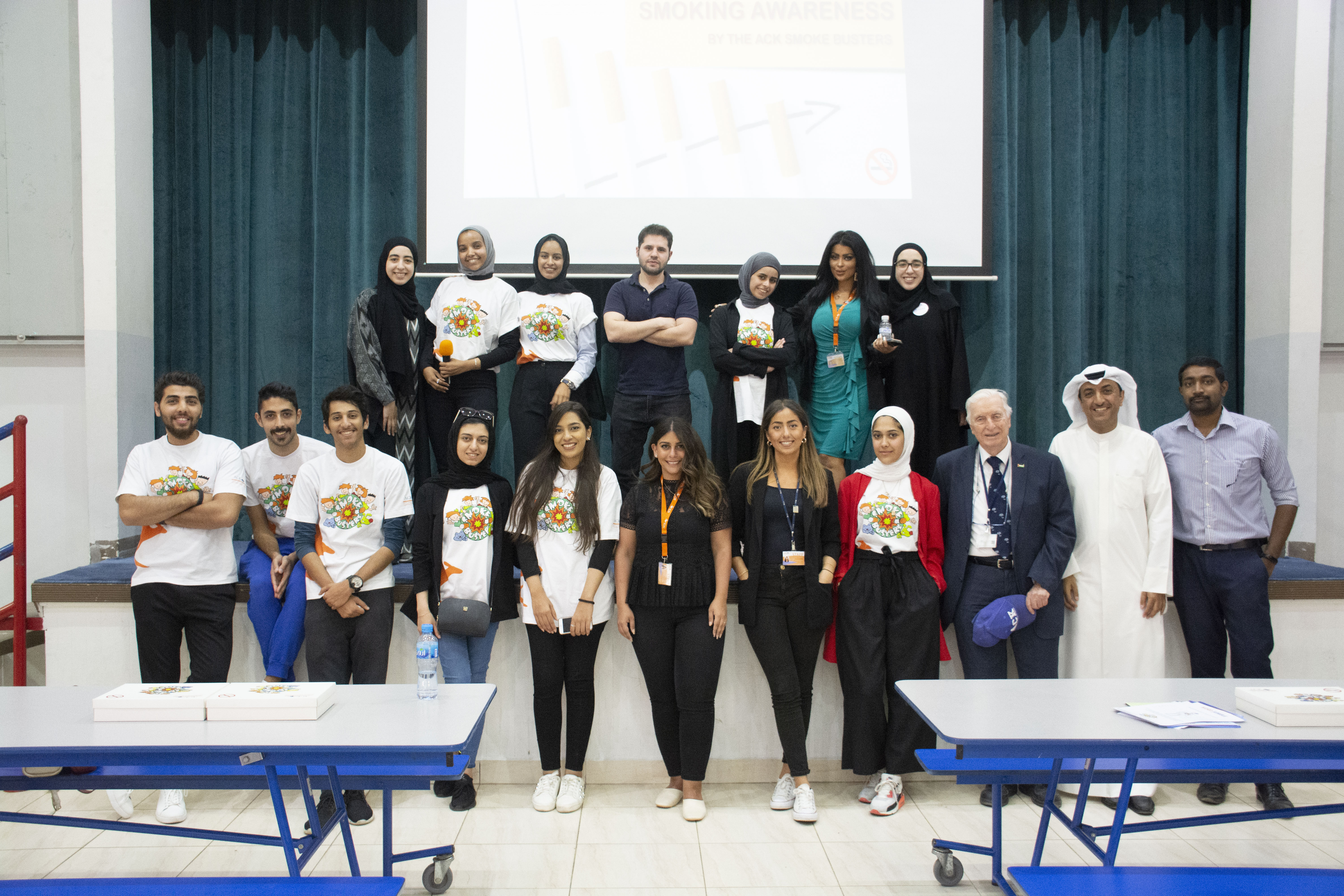 ACK visits ABS as part of Smoking Awareness Campaign